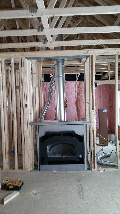 NZ3000 wood burning fireplace